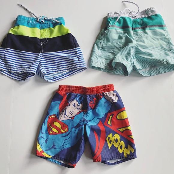 17a6aba4e8 Old Navy Swim | Lot 3 Toddler Boys Trunks 24m Superman | Poshmark
